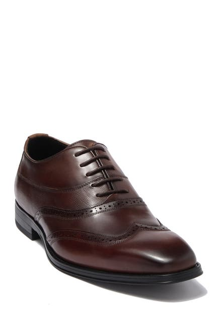 Image of Karl Lagerfeld Paris Wingtip Leather Lace-Up Oxford