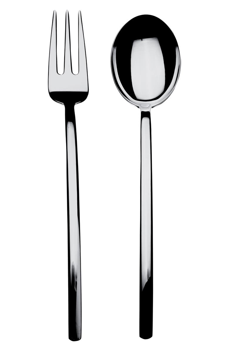 MEPRA Fork & Spoon Serving Set, Main, color, STAINLESS SHINY