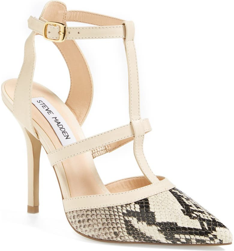 STEVE MADDEN 'Surfice' Pointy Toe Pump, Main, color, NATURAL MULTI