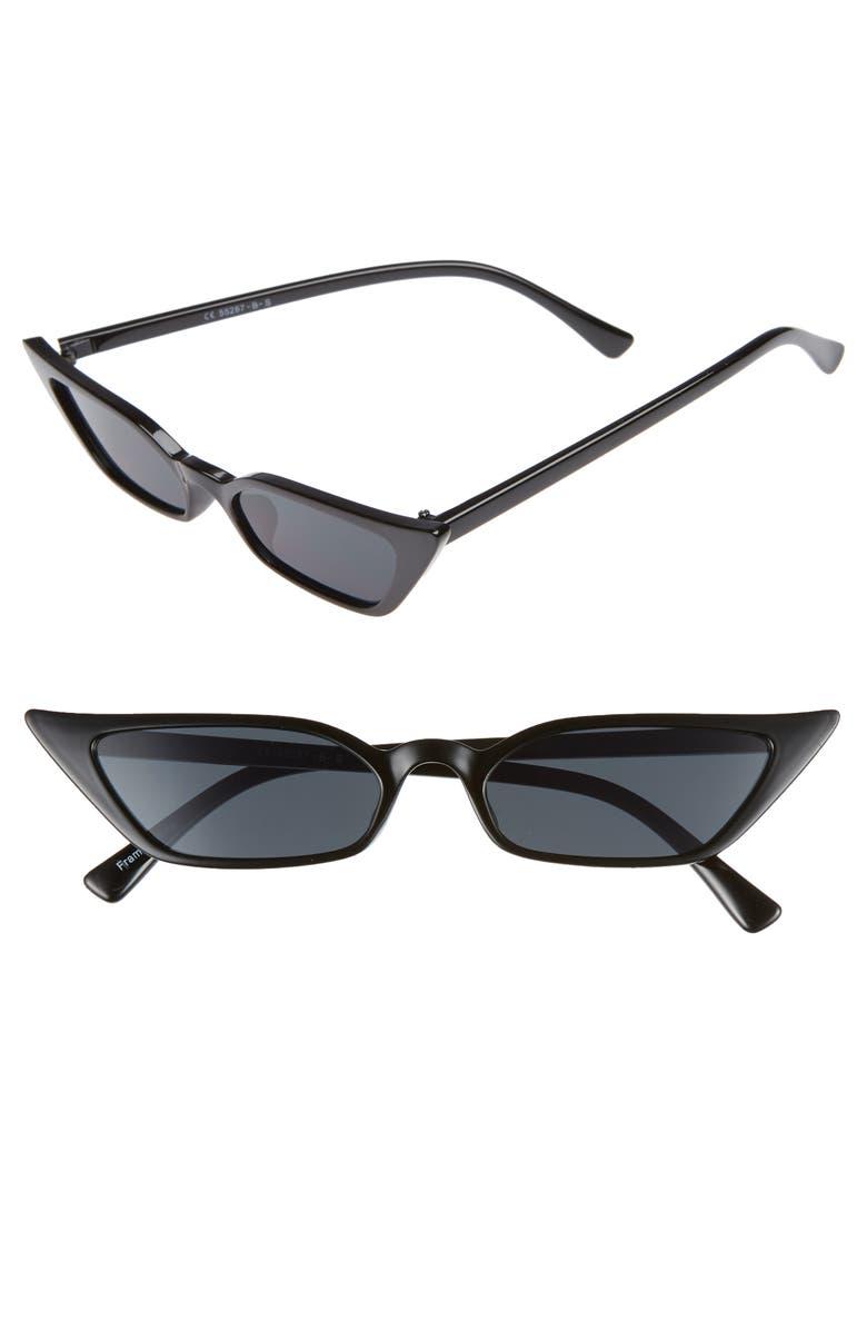 GLANCE EYEWEAR 52mm Cat Eye Sunglasses, Main, color, 001