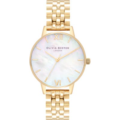 Olivia Burton Mother Of Pearl Bracelet Watch, 30Mm