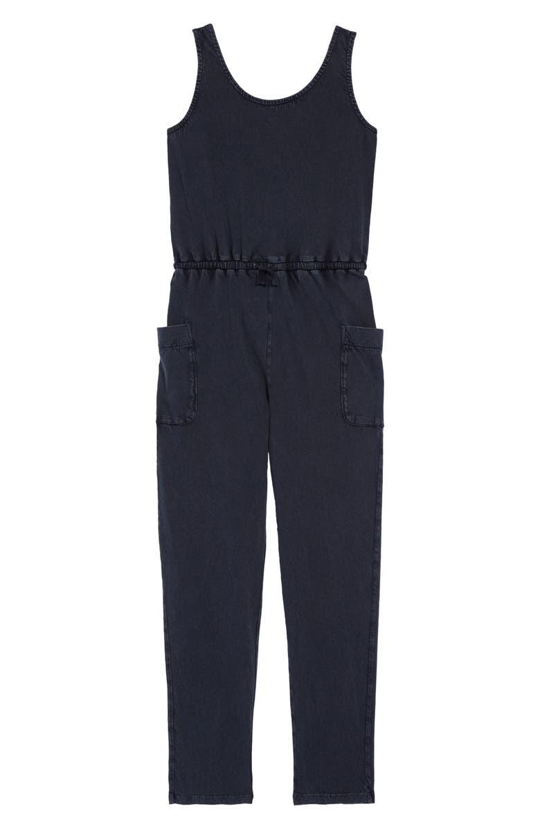 TREASURE & BOND Cross Back Jumpsuit, Main, color, BLACK