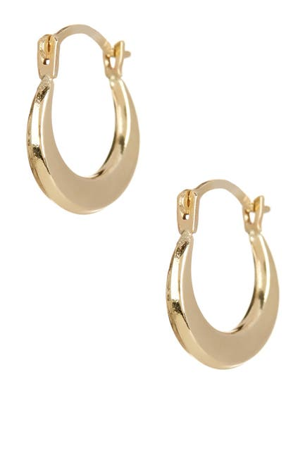 Image of Candela 14K Yellow Gold 8mm Puffed Hoop Earrings