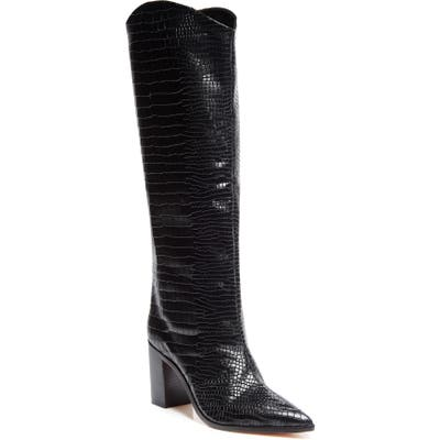 Schutz Analeah Pointed Toe Knee High Boot- Black