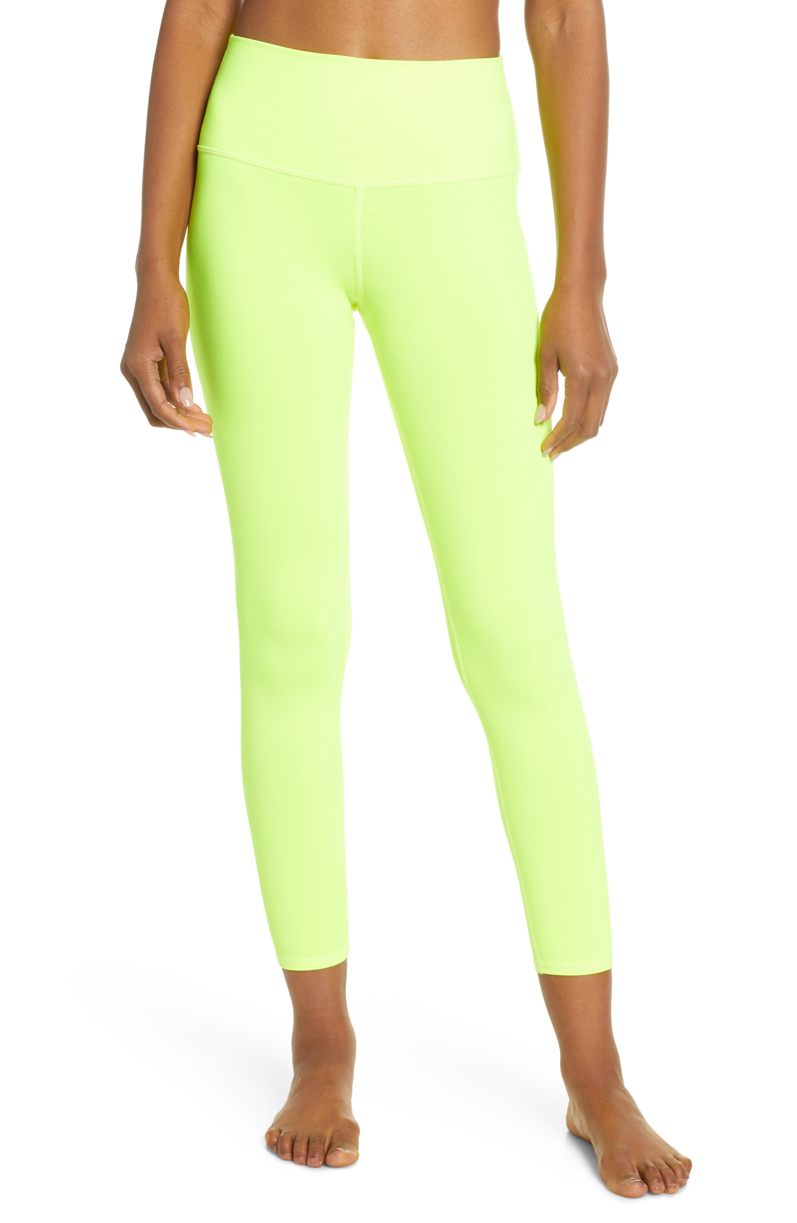 ,                             Airbrush 7/8 High Waist Leggings,                             Main thumbnail 1, color,                             HIGHLIGHTER