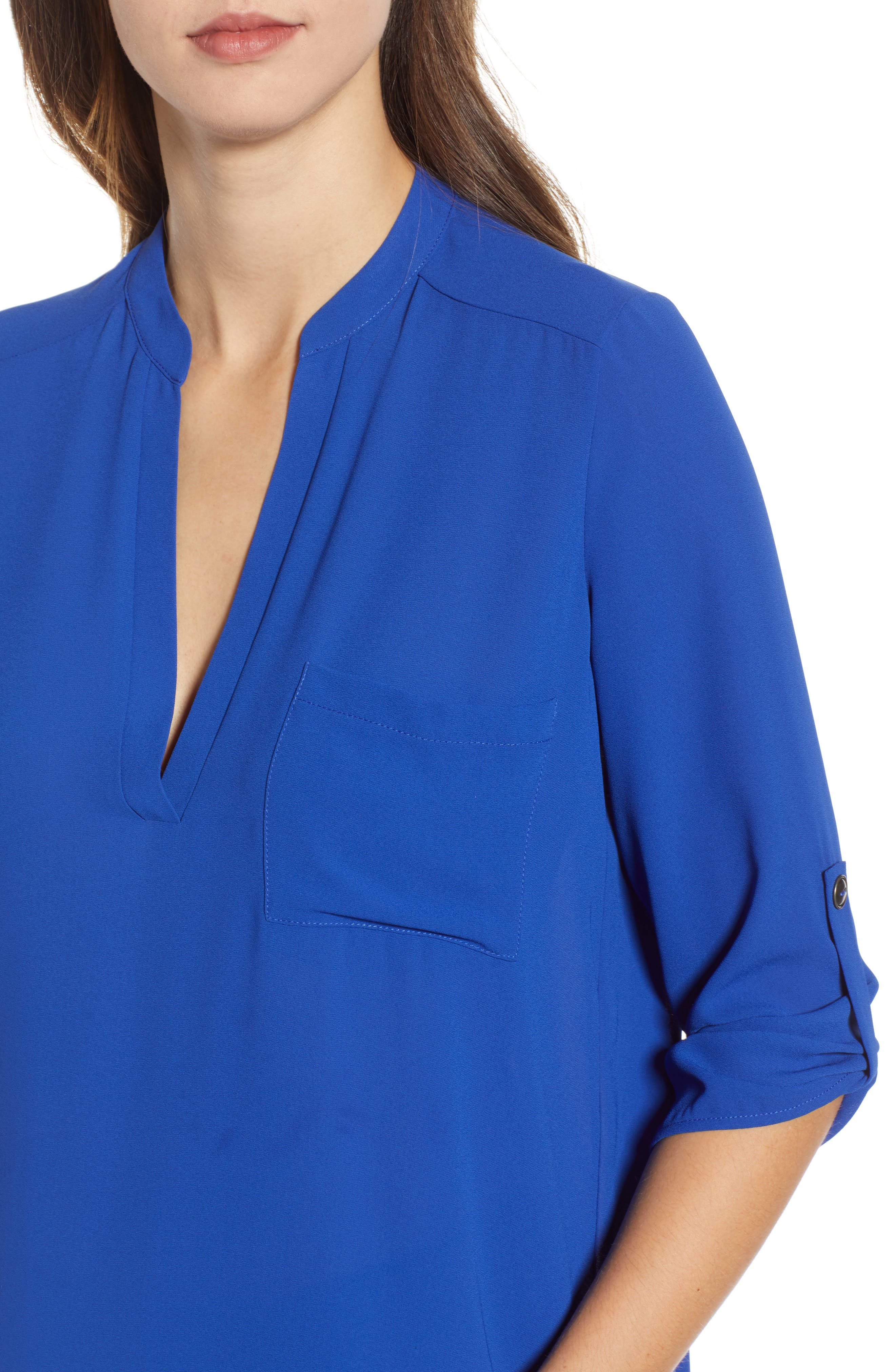 ,                             Perfect Roll Tab Sleeve Tunic,                             Alternate thumbnail 9, color,                             416