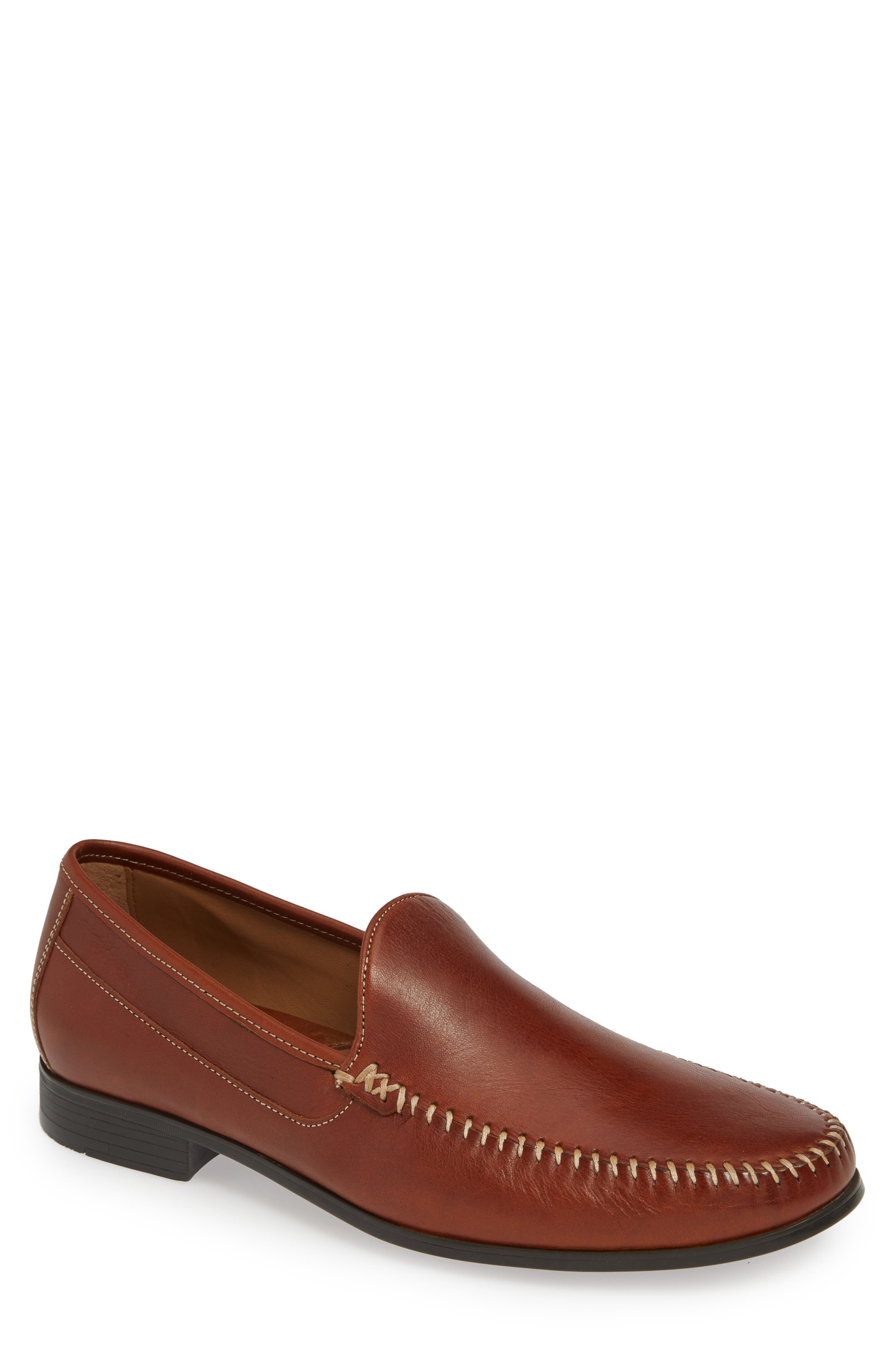 Johnston & Murphy Cresswell Venetian Loafer- Brown