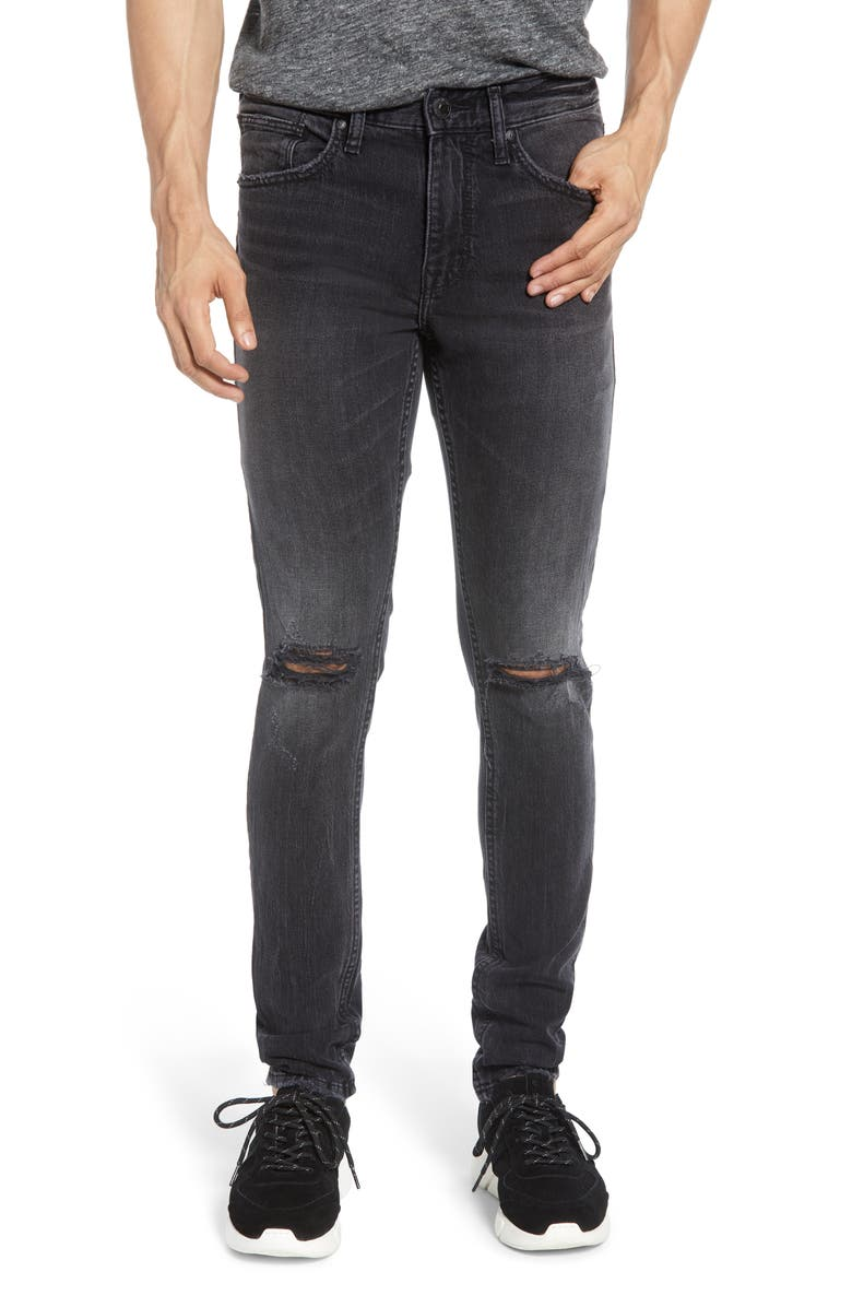 SILVER JEANS CO. Kenaston Ripped Skinny Jeans, Main, color, 001