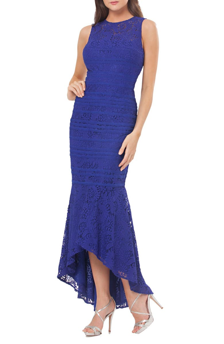 JS COLLECTIONS Lace High/Low Gown, Main, color, 480