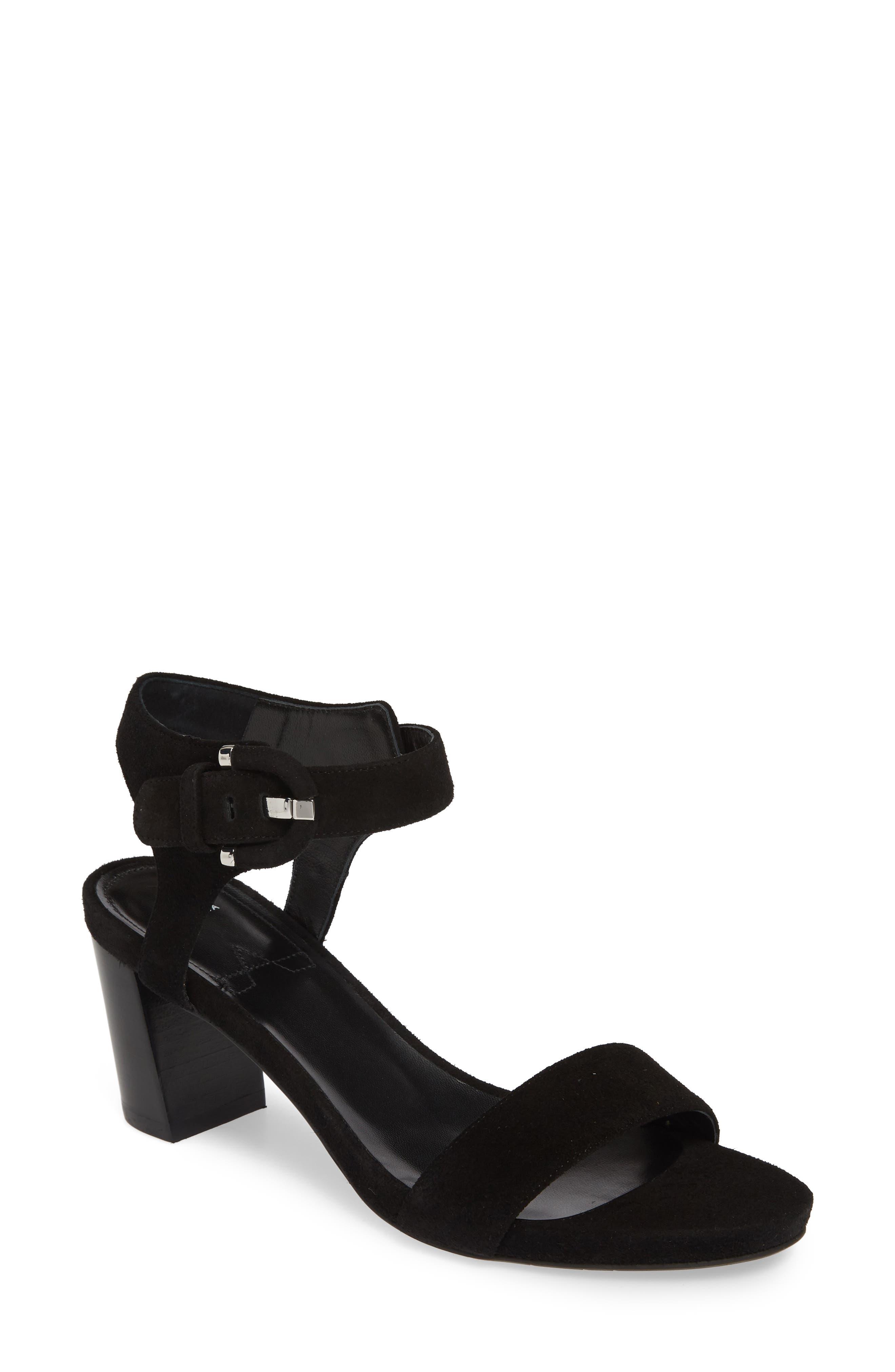 Aquatalia Breanna Ankle Strap Sandal- Black