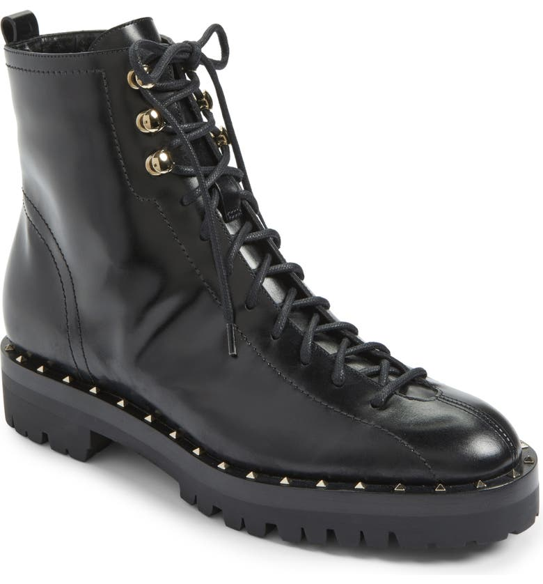 ac77d4854b2 VALENTINO GARAVANI Rockstud Combat Boot (Women) | Nordstrom