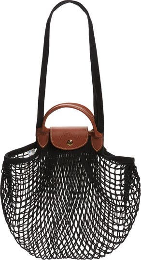 Le Pliage Filet Knit Shoulder Bag