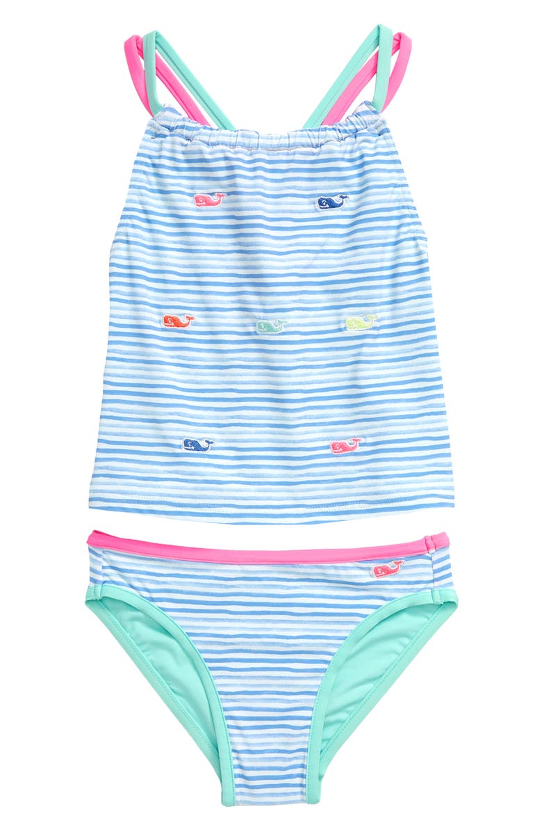 VINEYARD VINES Whale Embroidered Two-Piece Swimsuit, Main, color, 400
