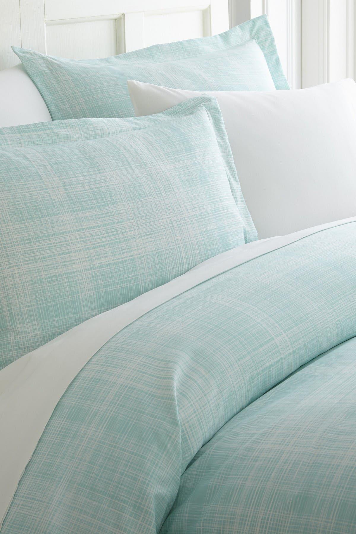 Image of IENJOY HOME Home Spun Premium Ultra Soft Thatch Pattern 2-Piece Duvet Cover Twin Set - Aqua