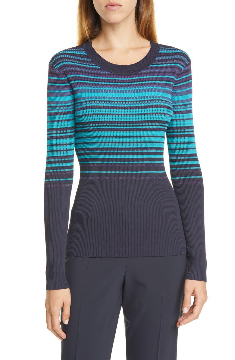 BOSS Fadeira Sweater, Main, color, MIDNIGHT FANTASY