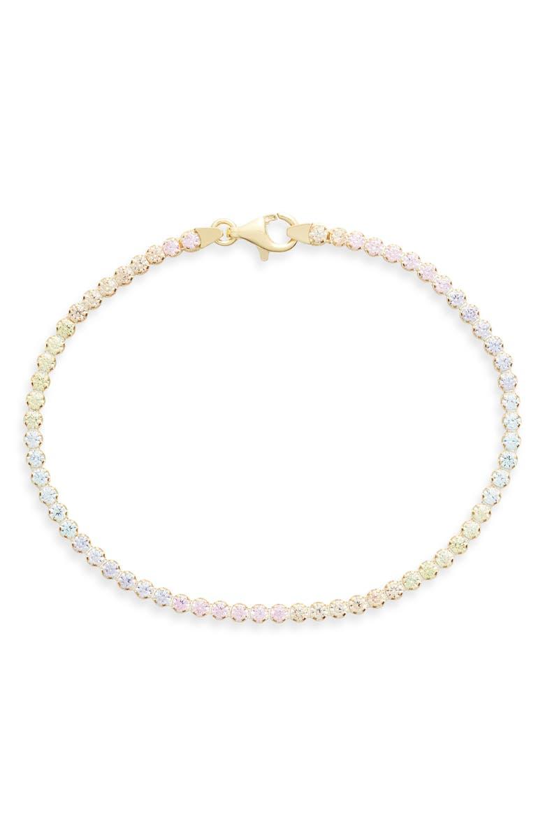 Adinas Jewels Pastel Rainbow Tennis Bracelet