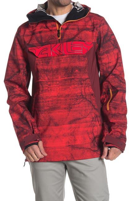 Image of Oakley Black Forest 3L 15K Hooded Quarter Zip Shell Jacket