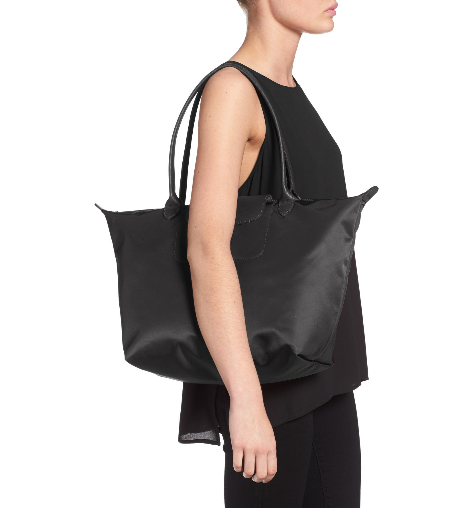 'Large Le Pliage Neo' Nylon Tote