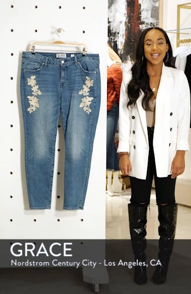 Lolita Embroidered Skinny Jeans, sales video thumbnail