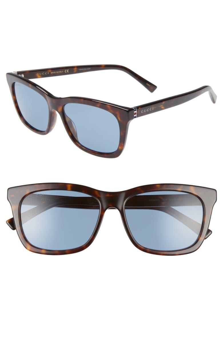 GUCCI 56mm Square Sunglasses, Main, color, 212