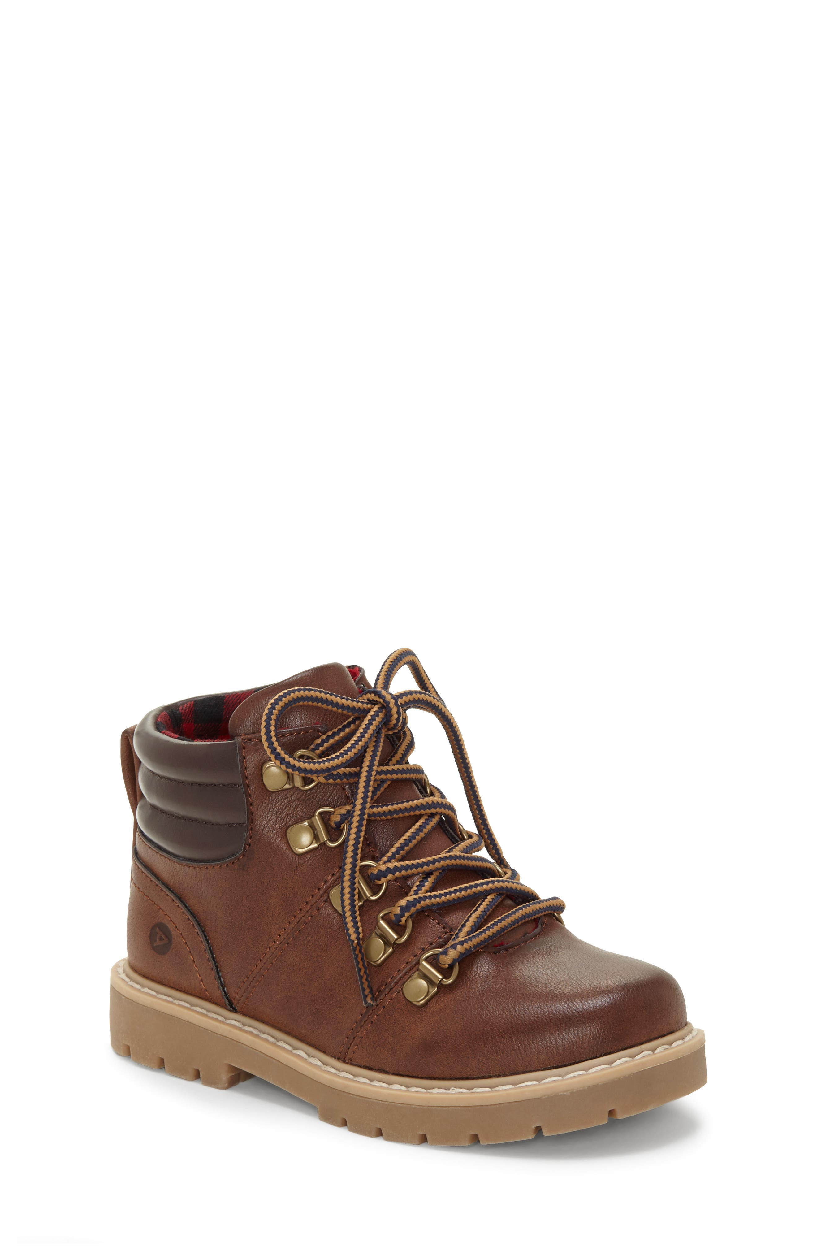 Aakil Lace-Up Boot, Main, color, MISTER MAPLE