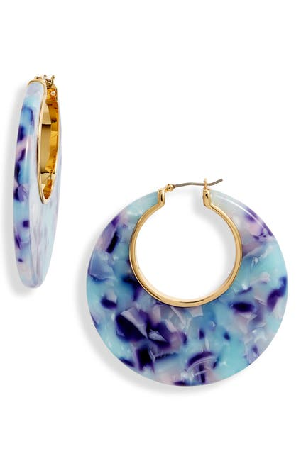 Image of kate spade new york on the dot hoop earrings