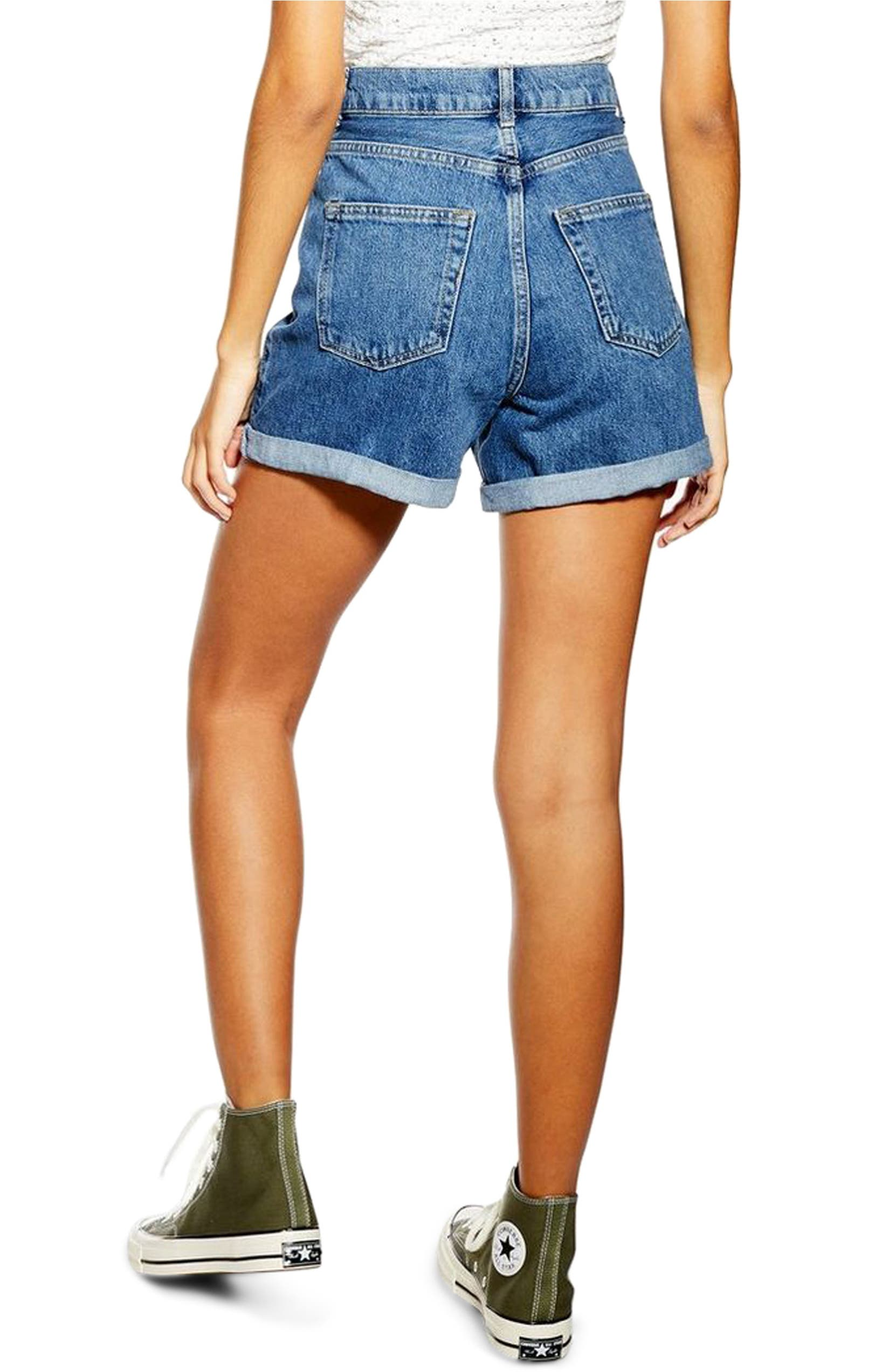 c2210f5a3d1 Topshop Roll Cuff Denim Mom Shorts