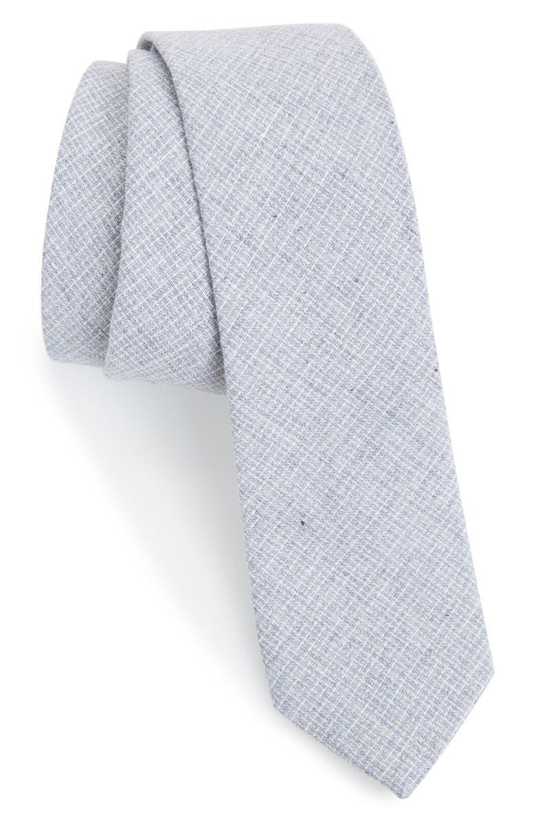 ORIGINAL PENGUIN 'Aura' Cotton & Linen Crosshatch Tie, Main, color, 020