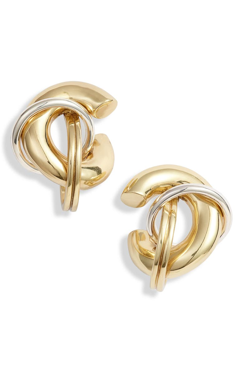 ELLERY Fraternity Stacked Cluster Earrings, Main, color, GOLD/ SILVER