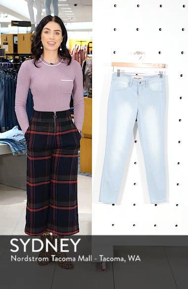 Pinstripe Crop Skinny Jeans, sales video thumbnail