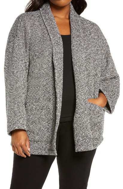 EILEEN FISHER ORGANIC COTTON SHAWL COLLAR JACKET