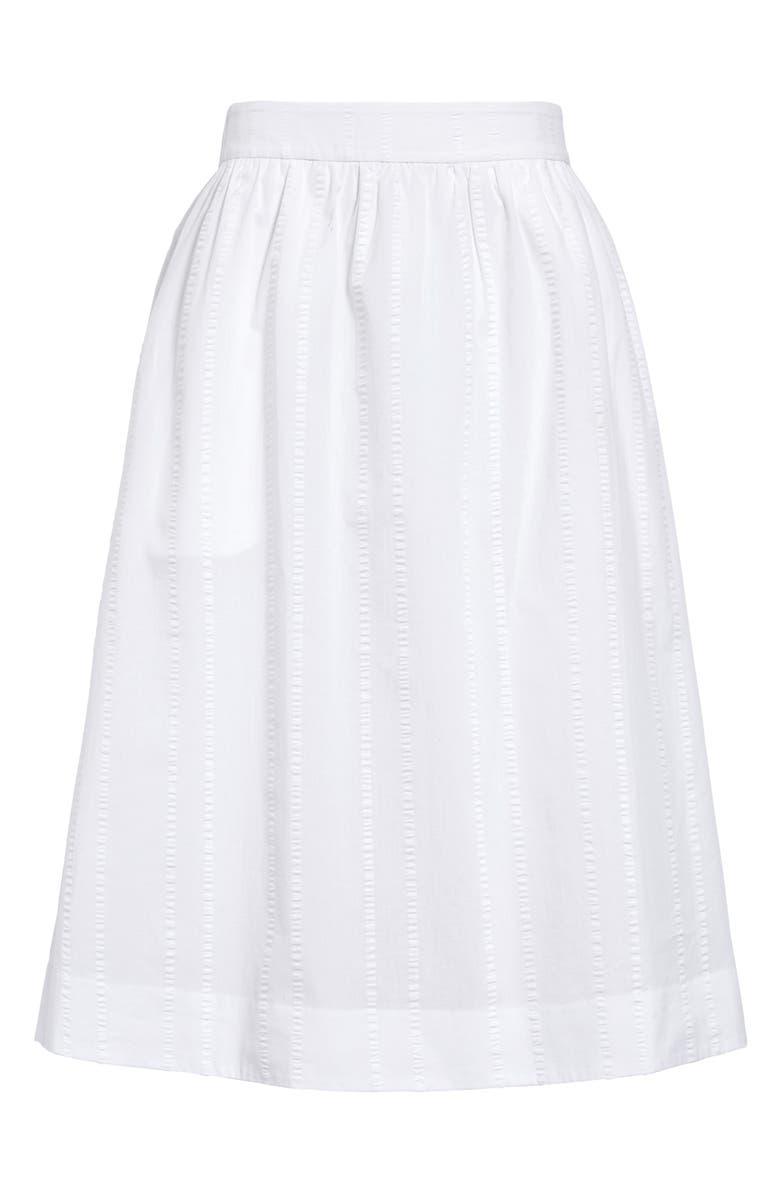 1901 Pull On Midi Skirt, Main, color, WHITE