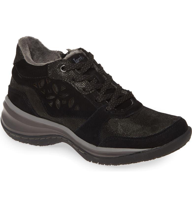 JAMBU Dahlia Sneaker, Main, color, BLACK/ CHARCOAL SUEDE