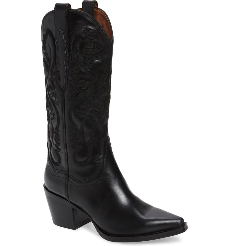JEFFREY CAMPBELL Dagget Western Boot, Main, color, BLACK