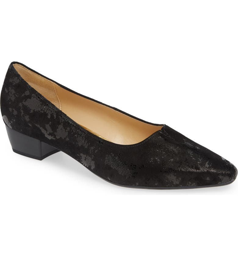 GABOR Low Pump, Main, color, BLACK METALLIC LEATHER