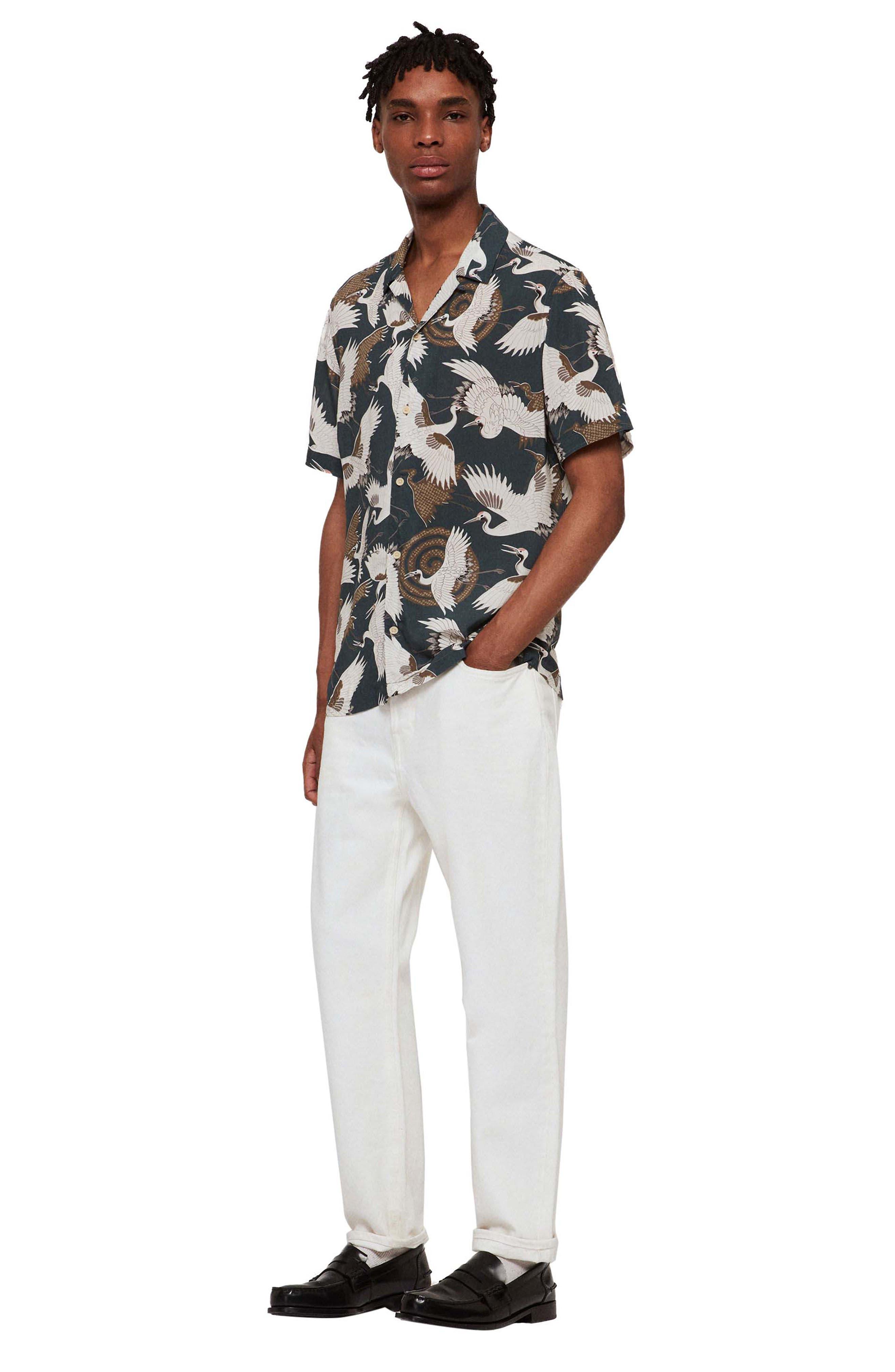 ,                             Tsuru Slim Fit Short Sleeve Sport Shirt,                             Alternate thumbnail 5, color,                             BLUE