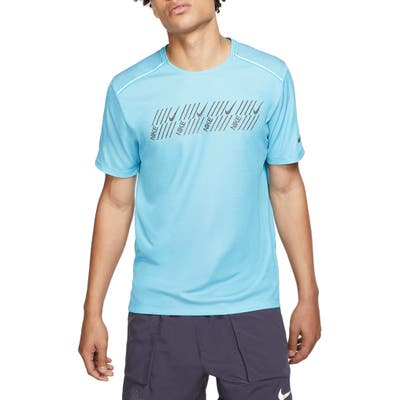 Nike Miler Tech Capsule T-Shirt, Blue