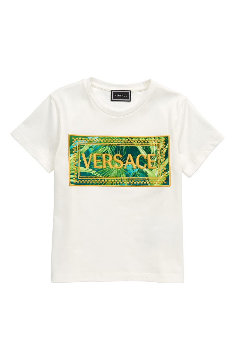 VERSACE Graphic Tee, Main, color, 110