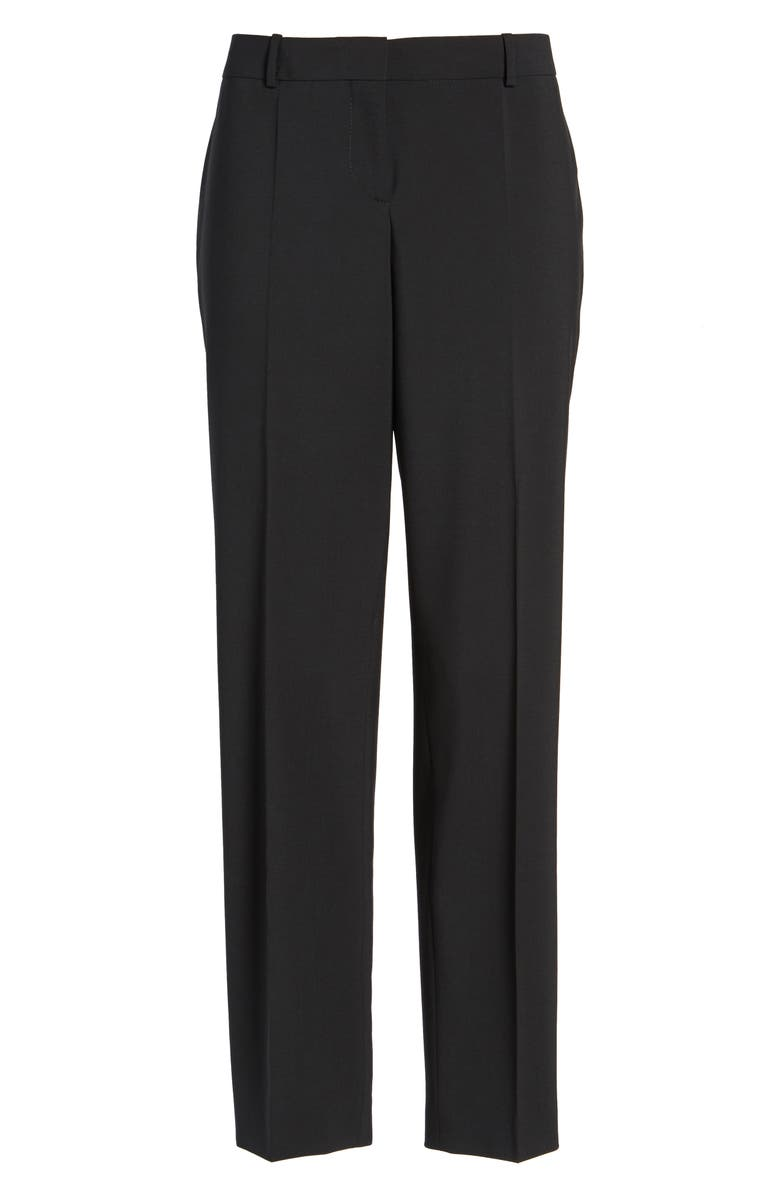 BOSS Tiluna Slim Stretch Wool Suit Trousers, Main, color, BLACK