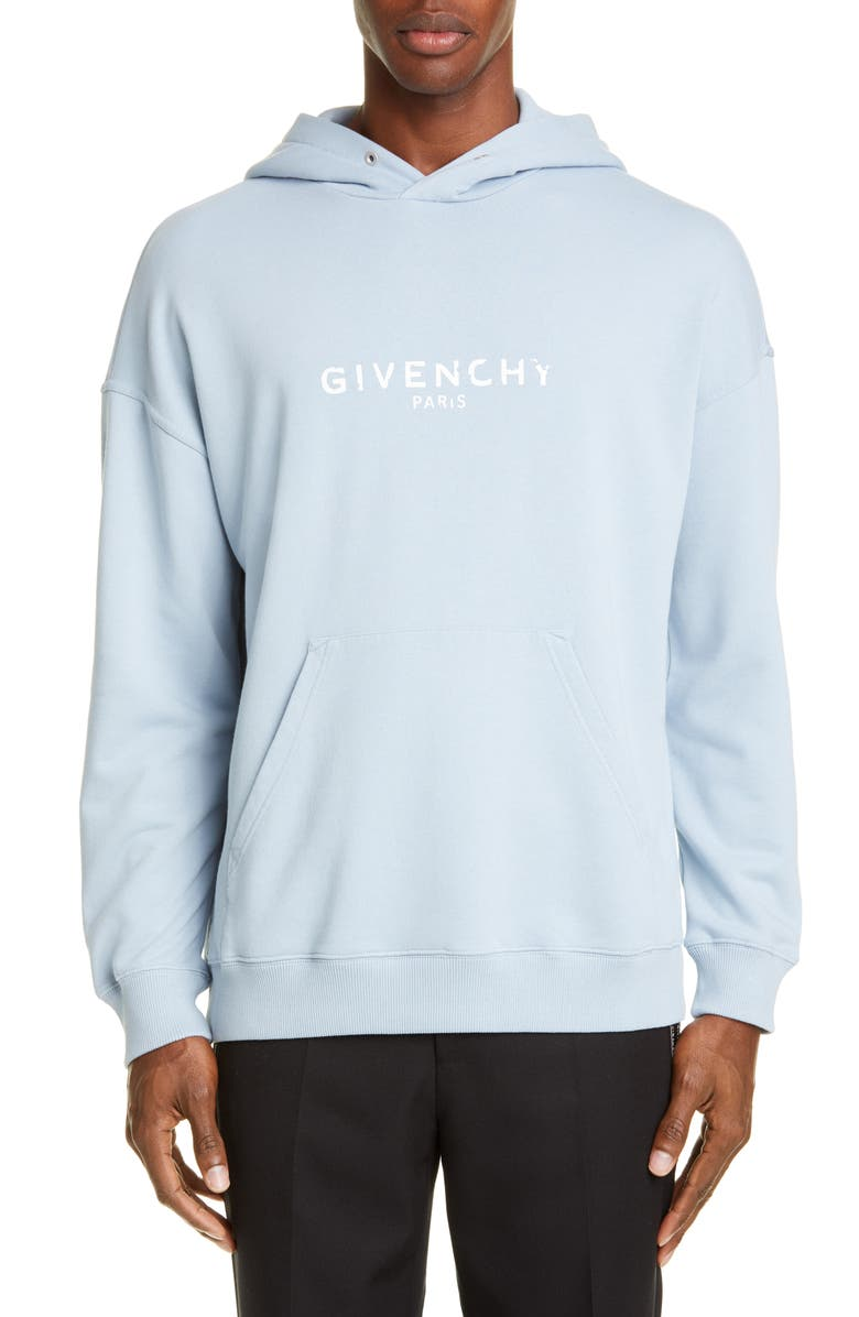 GIVENCHY Logo Hoodie, Main, color, PALE BLUE