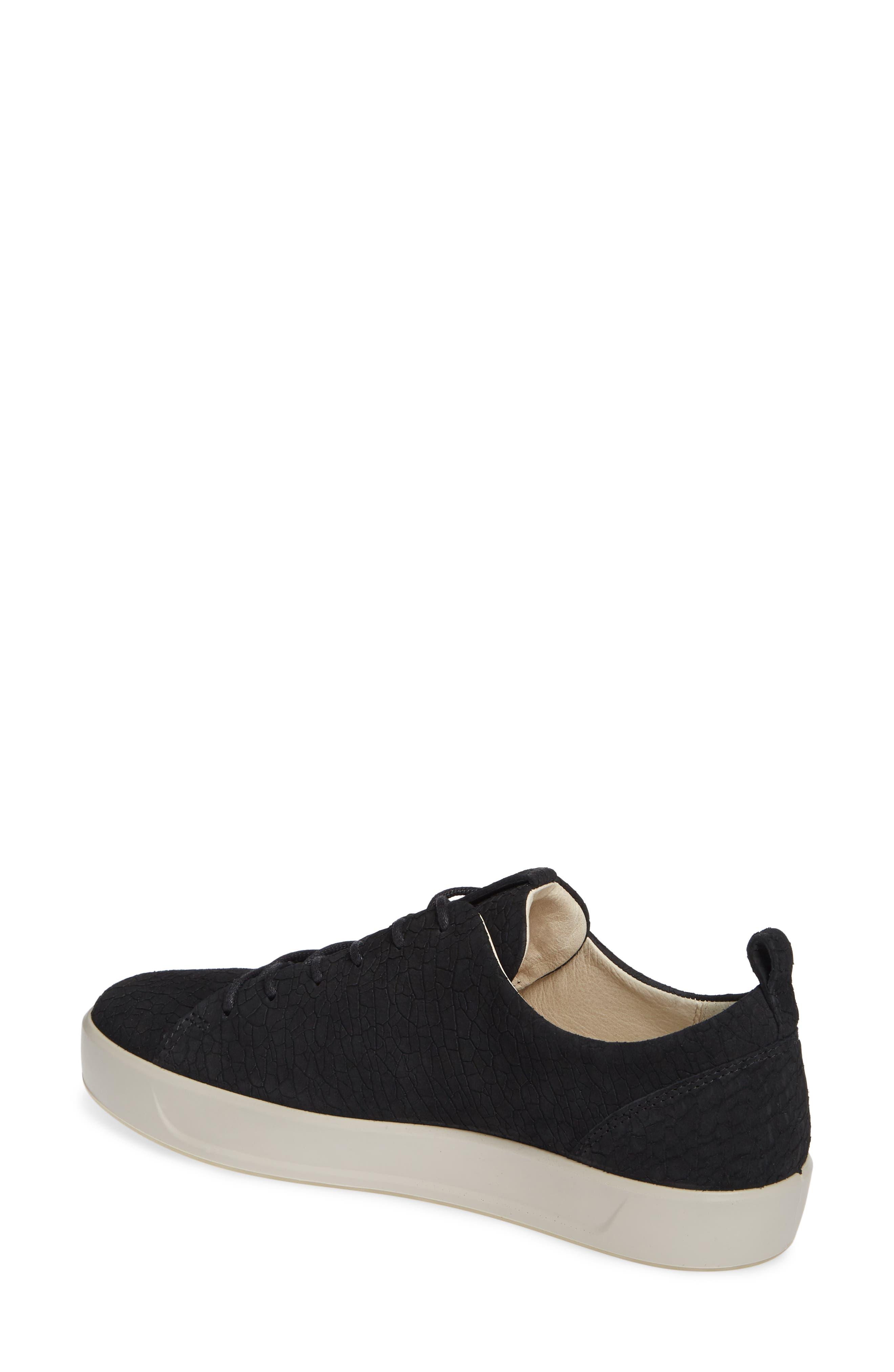 ,                             Soft 8 Sneaker,                             Alternate thumbnail 2, color,                             BLACK CRACKLED LEATHER