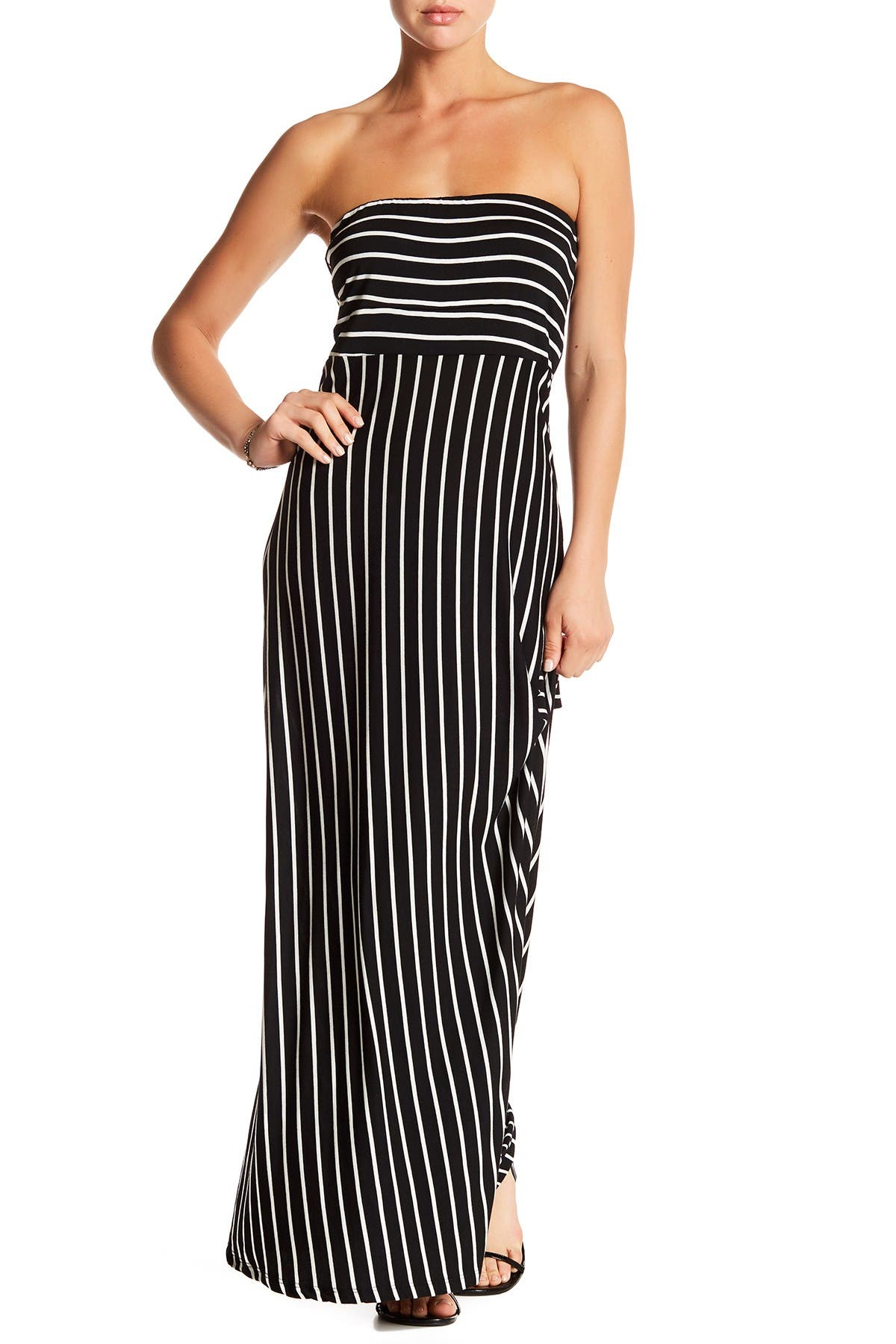 Image of WEST KEI Strapless Stripe Maxi Dress