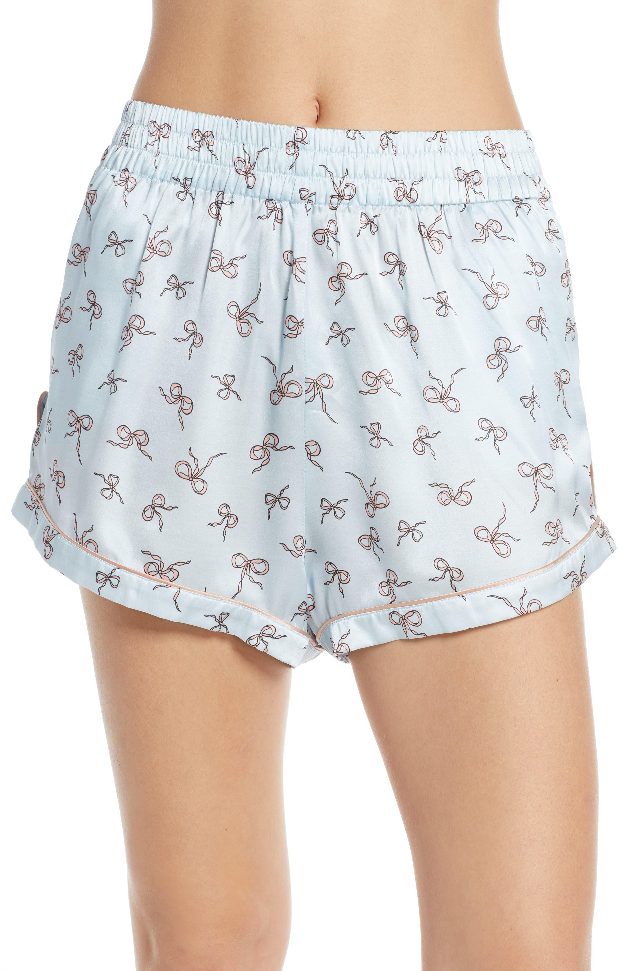 Morgan Lane Chloe Pajama Shorts, Blue