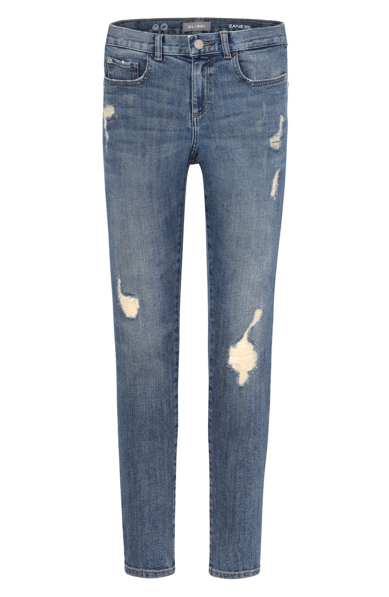 DL1961 Zane Distressed Super Skinny Jeans, Main, color, WILD THING