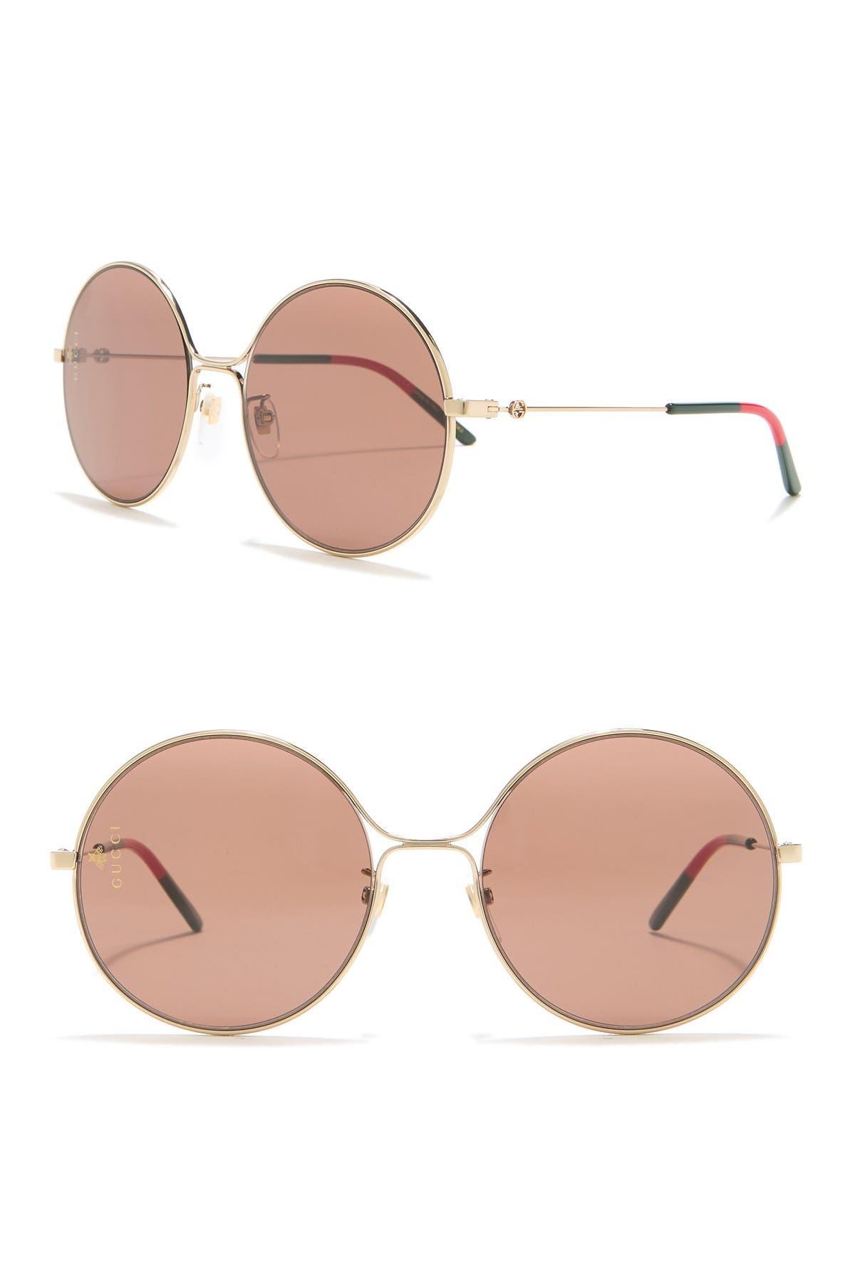 Image of GUCCI 58mm Round Sunglasses