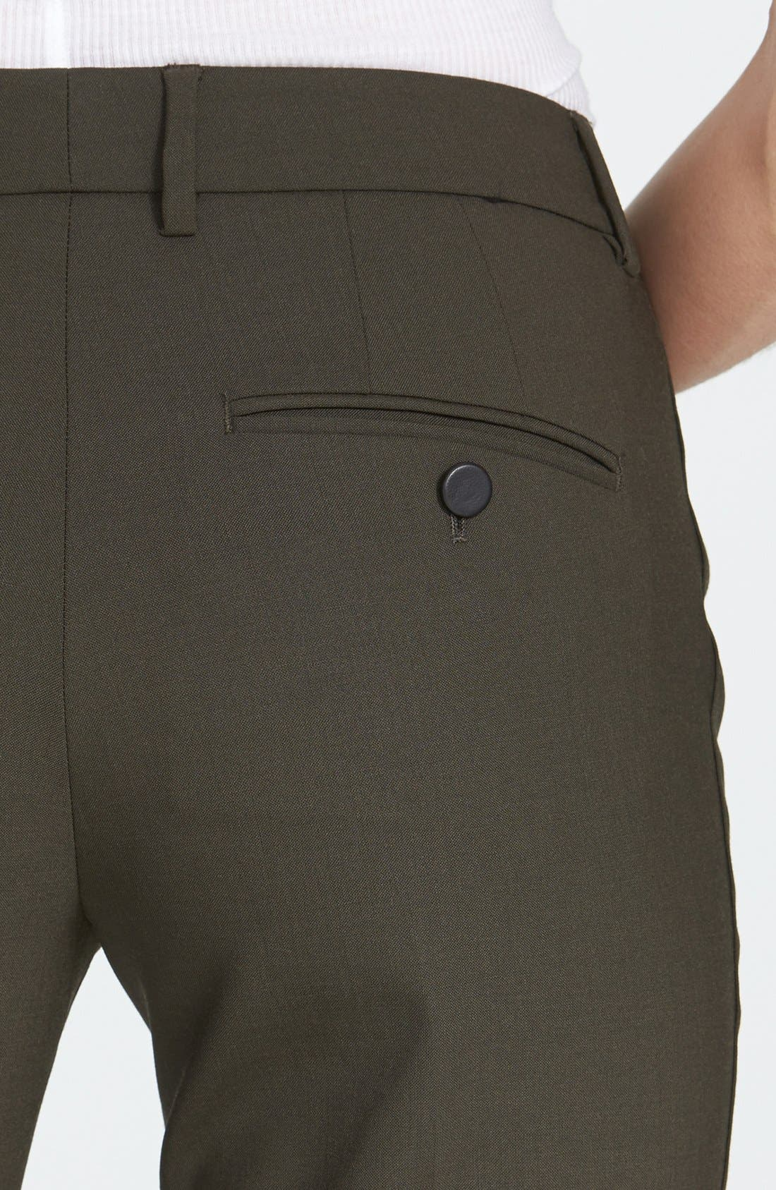 ,                             'Strapping' Stretch Wool Trousers,                             Alternate thumbnail 6, color,                             020