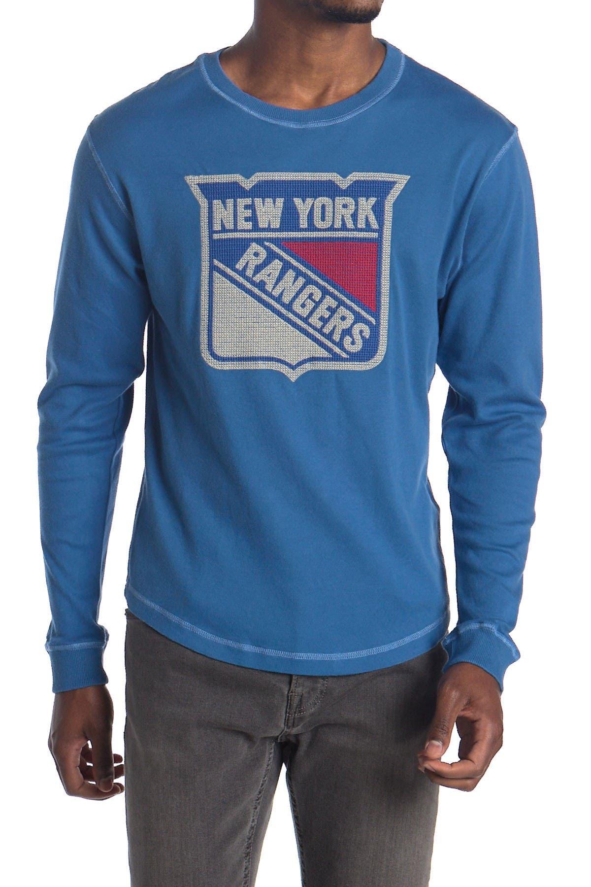 Image of American Needle NHL NY Rangers Long Sleeve Fleece