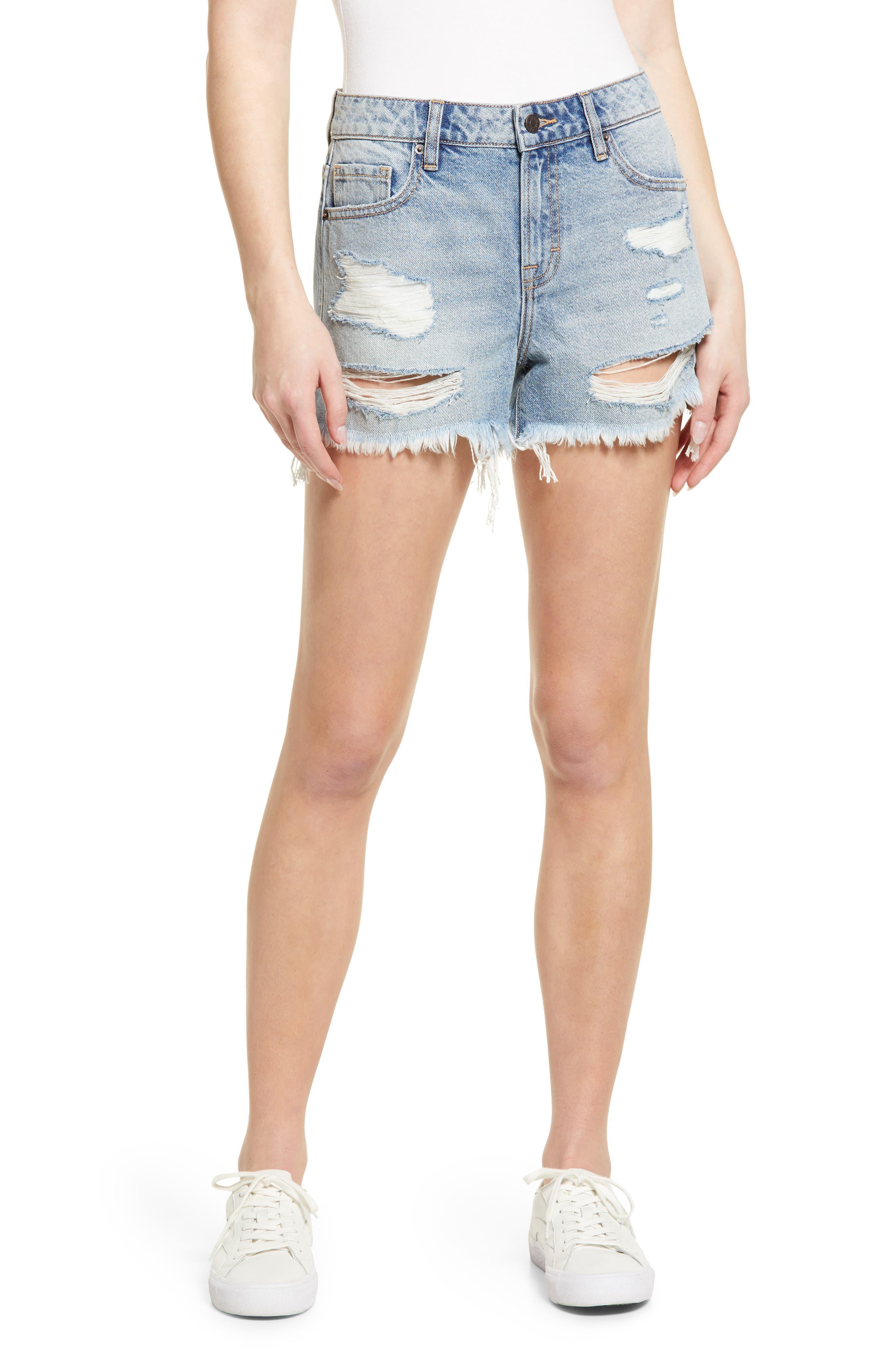 Distressed Boyfriend Denim Shorts