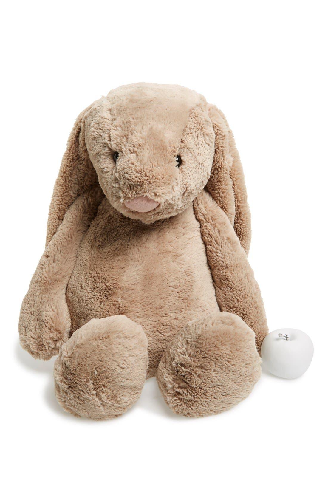 'Really Big Bashful Bunny' Stuffed Animal, Main, color, BEIGE