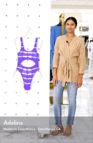 The Mishy High Cut Ribbed One-Piece Swimsuit, sales video thumbnail